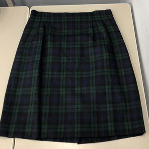 Dresses & Skirts - Blue and green plaid school girl skirt